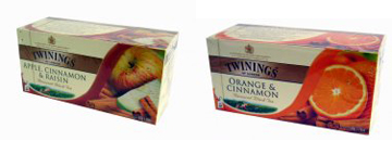 Twinings Smaakjesthee Apple, Cinnamon & Raisins en Orange Cinnamon thee