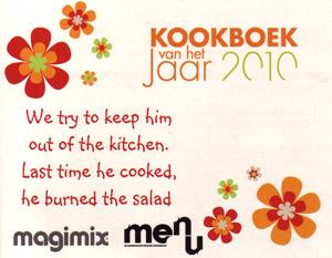 Kookboek van het jaar 2010 uitnodiging