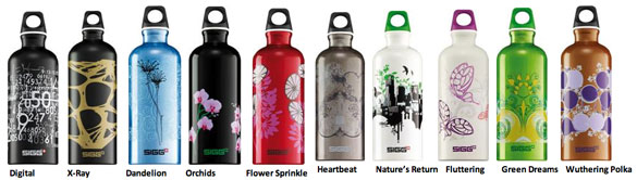 Sigg Bottles Design collectie 2011