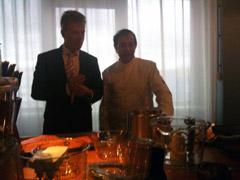 Alain Caron en Hans directeur Cuisinart keukenapparaten