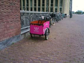 fifteen roze bakfiets