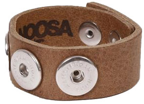 Noosa Armband enkel midbrown Jewelz & More Arnhem