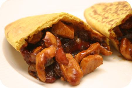 Roti Indonesia met Ajam Kecap