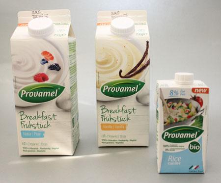 Provamel Breakfast yoghurt en rice cuisine
