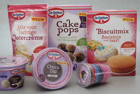 Nieuwe bakproducten van Dr. Oetker