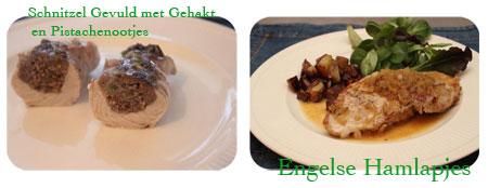 Gevulde Schnitzelrolletjes met gehakt en pistachenootjes - Engels hamlapjes