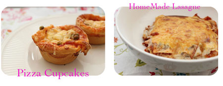 Pizza cupcakes en homemade lasagne