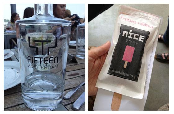 Jamie Magazine Foodbloggersdag: Het verslag fifteen water / nice ijs framboos hibiscus