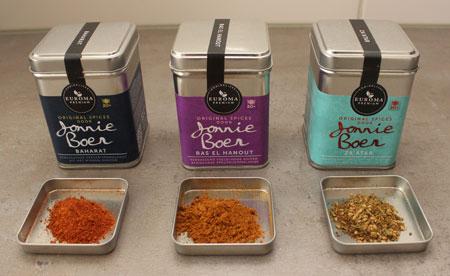 Euroma Original Spices by Jonnie Boer met specerijen ervoor baharat, ras el hanout en za'ahar