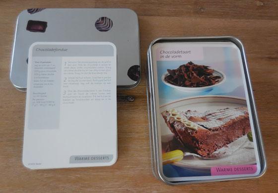 Chocoladebox, Receptenkaartjes