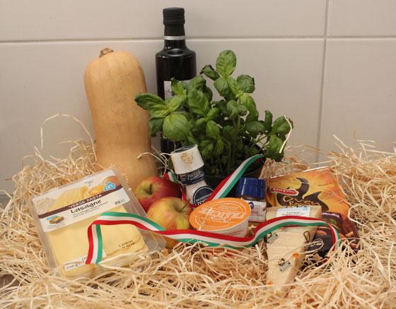 Ingrediënten om Lasagne met pompoen en appel te maken