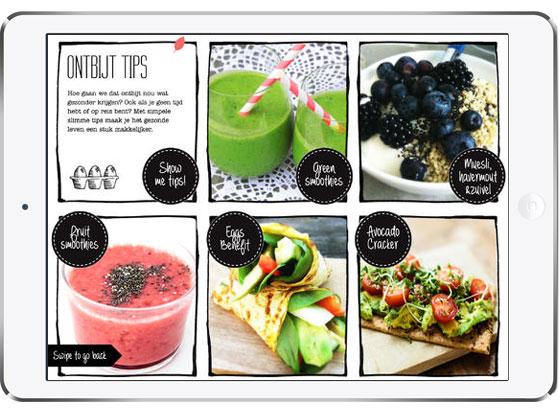 Spinach by Bluebelle scherm met ontbijtjes