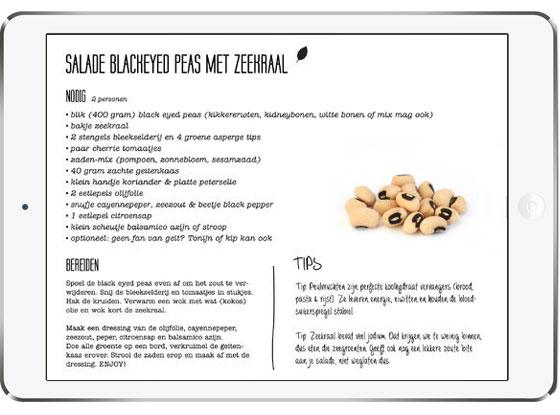 Spinach by Bluebelle scherm met recepten