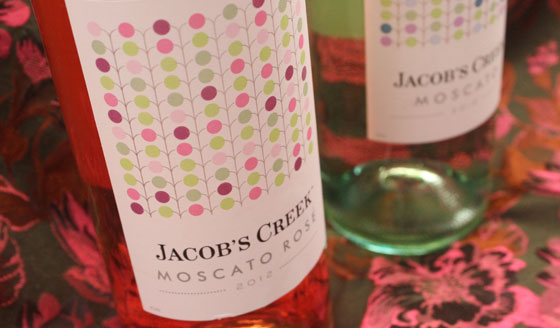 Jacobs Creek Moscato white en rose