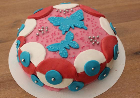 Eindresultaat Dr. Oetker taartworkshop