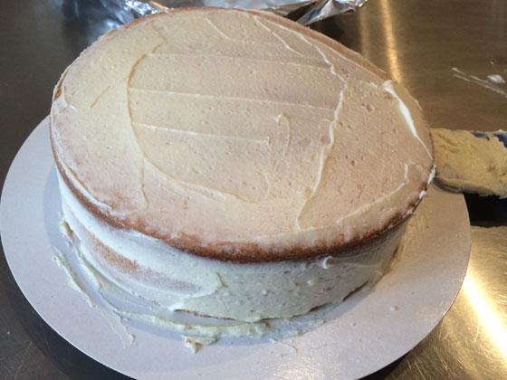 de taart met botercreme