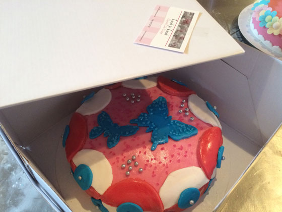 taartvervoer in doos