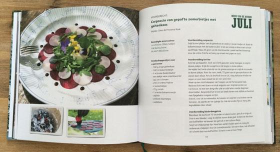Het Jaar Rond Genieten met Menu van de Maand 1 Big Green Egg boek inkijkje recept