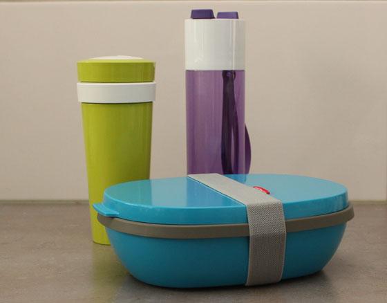 Lunchbox Elipse, drinkfles justwater, duobeker
