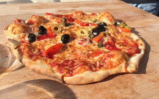 Pizza on Wheels pizza stukken