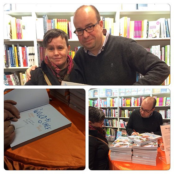 signeersessie  de would-be chef Sven Ornelis Mechelen Anja