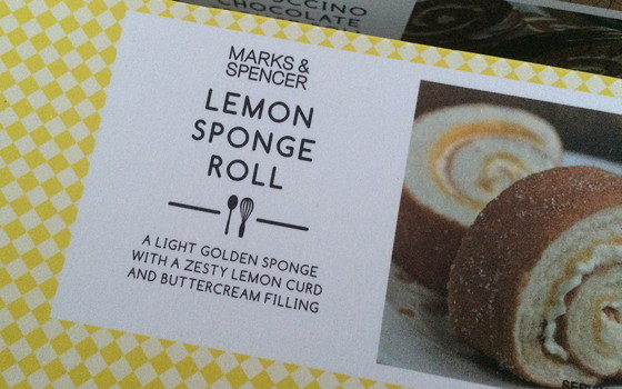 Marks and Spencer Shoplog lemon sponge roll