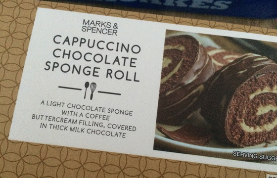 Marks and Spencer Shoplog cappucino chocolate sponge roll