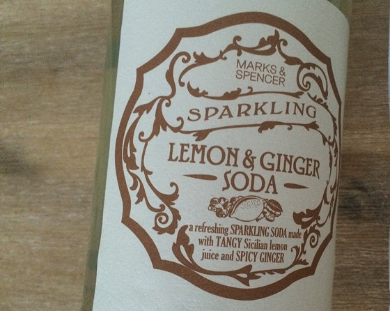 Marks and Spencer Shoplog sparkling lemon & ginger soda