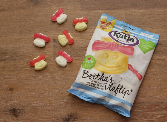 Katja Bertha's Vlaflip, toetje in een snoepje