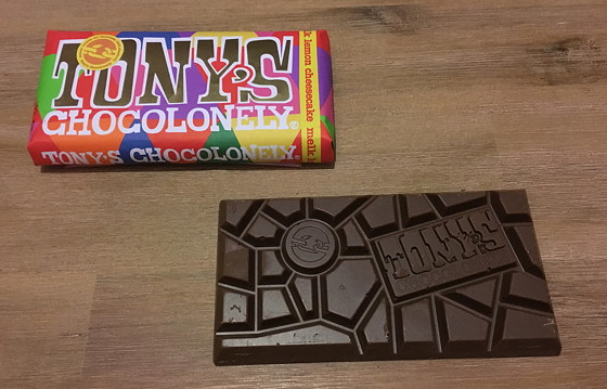 Tony's Chocolonely Limited Editions 2015 melk lemon cheesecake