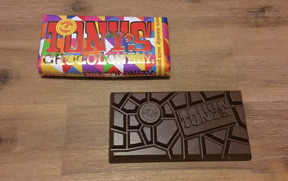 Tony's Chocolonely Limited Editions 2015 melk popcorn discodip