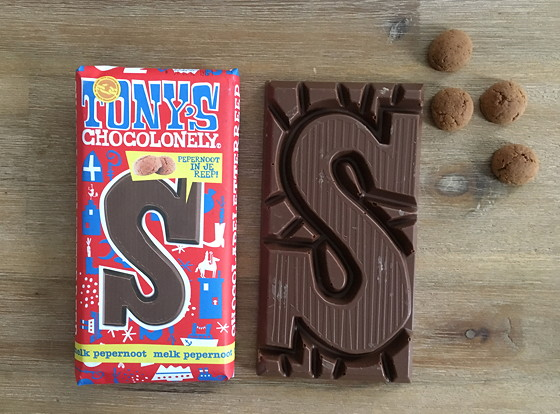 Tony's Chocolonely Letterreep met Pepernoot melk