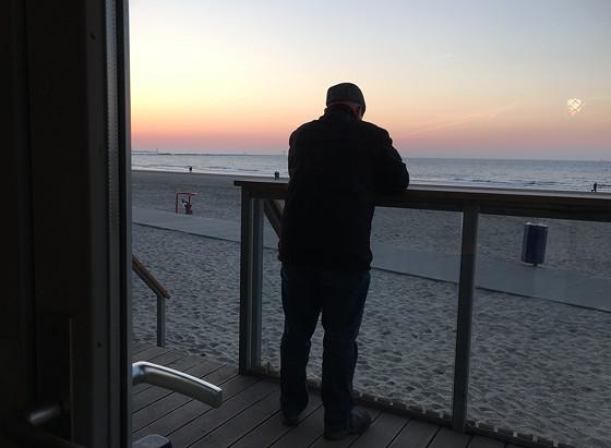 Ploggen 13 Maart 2016: Mooie zonsondergang