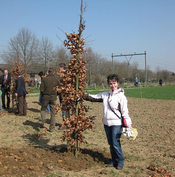 Brutselbos groepsfoto bij boompje
